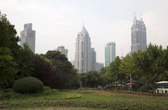 Place de Changhaï Renming photo libre de droits
