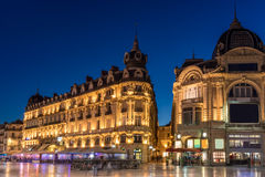 Place de Comedie. In Montpellier is the largest open square in Europe Stock Photo