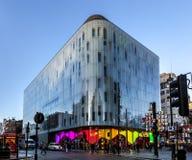 Place de construction moderne de Leicester Images libres de droits