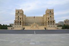 Place de ` d'Azadlig de ` de libert? ? Bakou Chambre de gouvernement et Conseil des ministres de l'Azerbaïdjan images stock