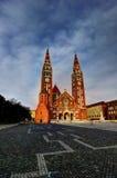 Place de dôme dans Szeged, Hongrie Images libres de droits