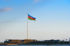 Place de drapeau national à Bakou Photo stock