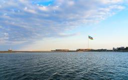Place de drapeau national à Bakou Photos stock