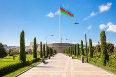 Place de drapeau national, Bakou photographie stock