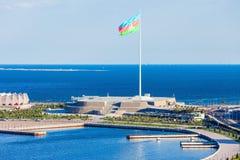 Place de drapeau national, Bakou photographie stock libre de droits