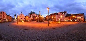 Place de Dvur Kralove NAD Labem photo libre de droits