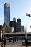Place de fédération de Melbourne et vue de ville image libre de droits