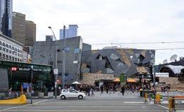 Place de fédération de Melbourne photo stock