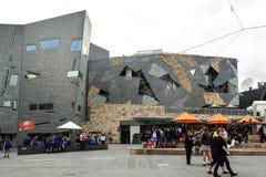 Place de fédération de Melbourne images libres de droits