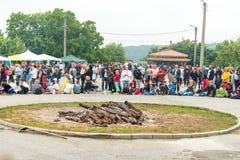 Place de festival aux jeux de Nestinarski, Bulgarie Photos stock