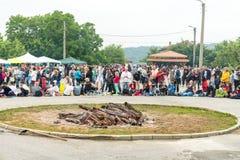 Place de festival aux jeux de Nestinarski en Bulgarie Image stock