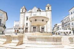 Place de Giraldo, Evora, Portugal image stock