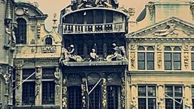 Place de Grand Place de La de Bruxelles banque de vidéos