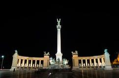 Place de héros de Budapest Photographie stock