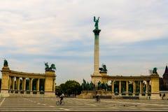 Place de héros de Budapest, Hongrie Images libres de droits