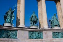 place de héros de DES de Budapest Photographie stock libre de droits