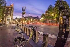 Place de Harvard à Cambridge, mA, Etats-Unis Image stock