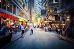 Place de Hong Kong Famous Nightlife - Lan Kwai Fong photos libres de droits
