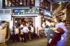 Place de Hong Kong Famous Nightlife - Lan Kwai Fong photographie stock libre de droits