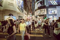 Place de Hong Kong Famous Nightlife - Lan Kwai Fong images libres de droits