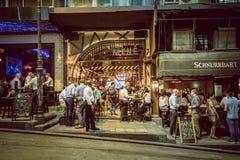 Place de Hong Kong Famous Nightlife - Lan Kwai Fong photo libre de droits