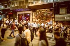 Place de Hong Kong Famous Nightlife - Lan Kwai Fong image libre de droits