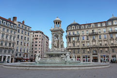 Place de Jacobins fountain, Lyon Royalty Free Stock Photos