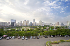 Place de Jinhu en capitale de la région autonome de Guangxi Zhuang : Nanning Photos stock