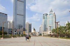 Place de Jinhu en capitale de la région autonome de Guangxi Zhuang : Nanning Images libres de droits