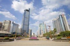 Place de Jinhu en capitale de la région autonome de Guangxi Zhuang : Nanning Images stock