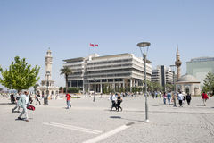 Place de Konak d'Izmir en Turquie Image stock