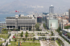Place de Konak d'Izmir, Turquie Images stock