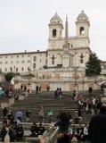 Place de l'Espagne à Rome image stock