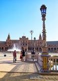 Place de l'Espagne, Séville, Espagne Image stock