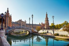 Place de l'Espagne, Séville, Espagne Photos stock