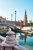 Place de l'Espagne, Séville, Espagne Image libre de droits