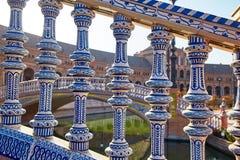 Place de l'Espagne, Séville, Espagne Photographie stock libre de droits