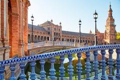 Place de l'Espagne, Séville, Espagne Photographie stock