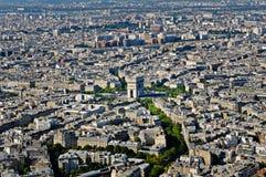 Place de l'Etoile and Arc de Triomphe place, Paris, France. Place de l'Etoile and Arc de Triomphe place, Paris Royalty Free Stock Photos