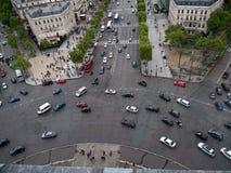 Place de L'Etoile en París Imágenes de archivo libres de regalías