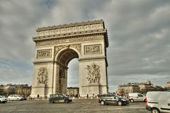 Place de l`etoile et arc de triomphe in Paris Royalty Free Stock Photo