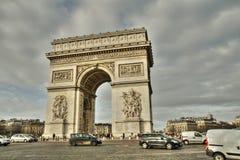 Place de l`etoile et arc de triomphe in Paris. Place de l`etoile et arc de triomphe  in Paris, France Royalty Free Stock Photo