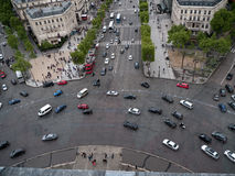Place de LEtoile in Paris Royalty Free Stock Images