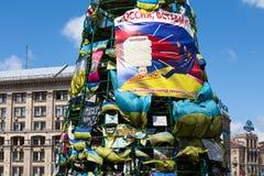 Place de l'indépendance à Kiev pendant une démonstration contre la dictature en Ukraine Images libres de droits