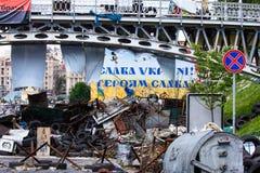 Place de l'indépendance à Kiev pendant une démonstration contre la dictature en Ukraine Photos stock