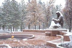 Place de l'indépendance dans la neige Photos libres de droits