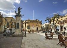 Place de l'indépendance dans Victoria Centre culturel Île de Gozo malte Images stock