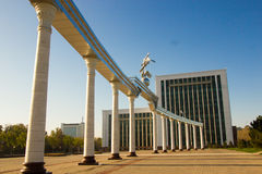 place de l'indépendance de ‹d'â€, Tashkent, l'Ouzbékistan image libre de droits