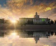 Place de l'indépendance de Khmelnytskyy Photographie stock
