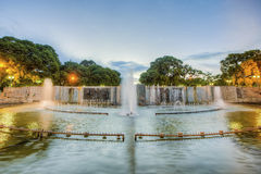 Place de l'indépendance en ville de Mendoza, Argentine Photos stock